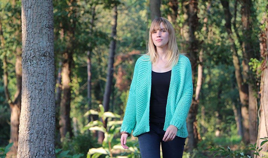 Fiona breipakket voor een oversized vest - fotoshoot