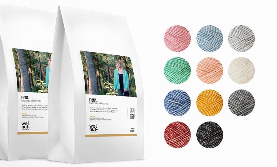 Fiona breipakket voor een oversized vest beschikbaar in verschillende frisse kleuren