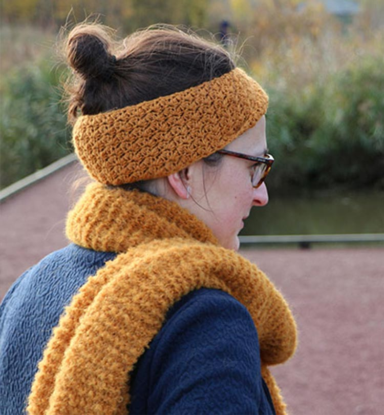 Hoofdband met Wolnut Alpaca Royale