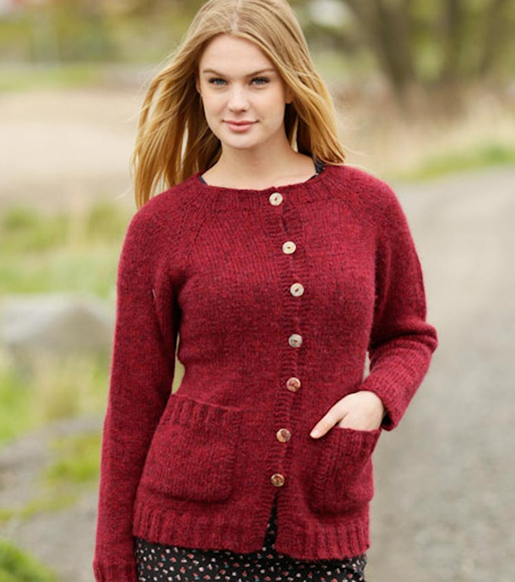 Winter Wine Cardigan