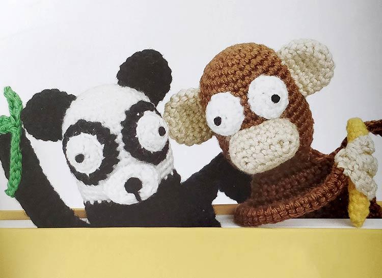 Aap Albert en panda Paloma