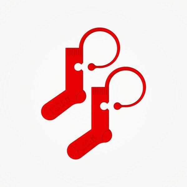 Addi Stekenmarkeerders sok rood (6 stuks)