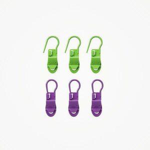 Clover Stekenmarkeerders Locking Stitch met clip (6 stuks)