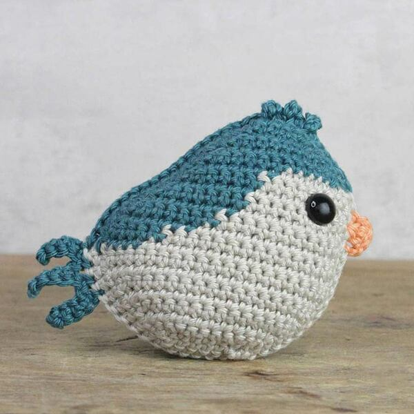 Vogeltje blauw Haakpakket Hardicraft