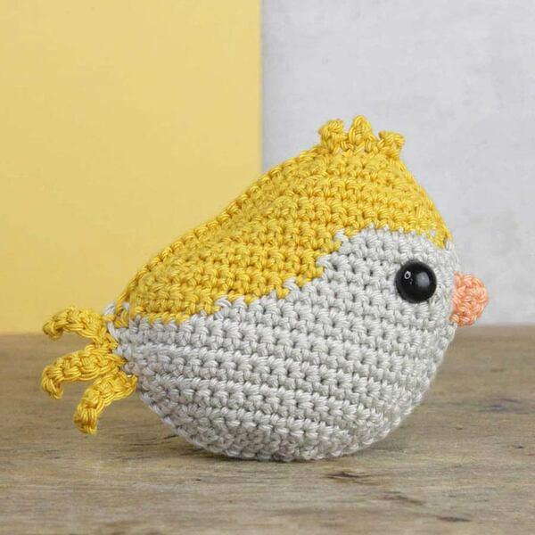 Vogeltje geel Haakpakket Hardicraft