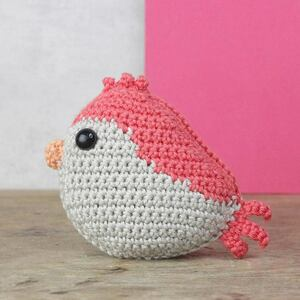 Vogeltje rood Haakpakket Hardicraft