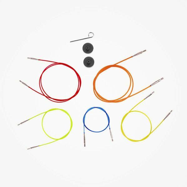 Kleurgecodeerde kabel voor verwisselbare naaldpunten KnitPro