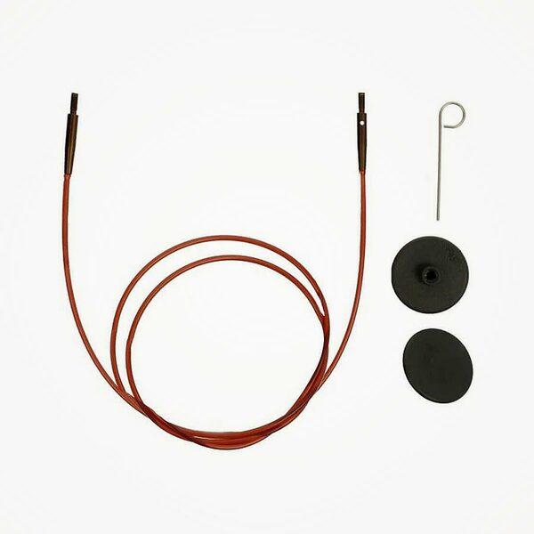 Ginger bruine kabel voor verwisselbare naaldpunten KnitPro