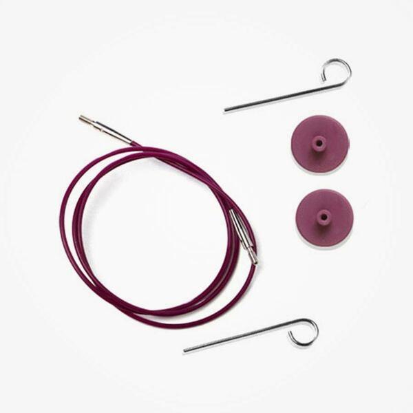 Paarse kabel voor verwisselbare naaldpunten KnitPro