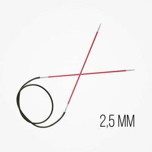 KnitPro Zing Vaste Rondbreinaalden 2,5 mm naalddikte