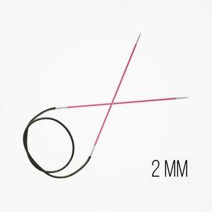 KnitPro Zing Vaste Rondbreinaalden 2 mm naalddikte