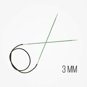 KnitPro Zing Vaste Rondbreinaalden 3 mm naalddikte