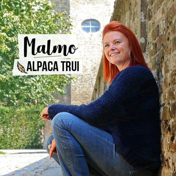 Malmo, zachte trui gebreid met Alpaca Feather