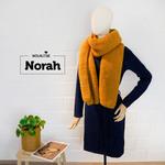 Norah, gebreide sjaal alpaca en zijde