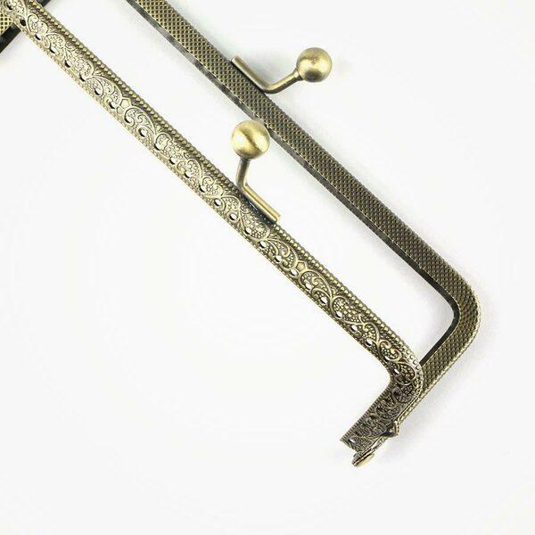 Handtassluiting recht bronskleurig 15 cm