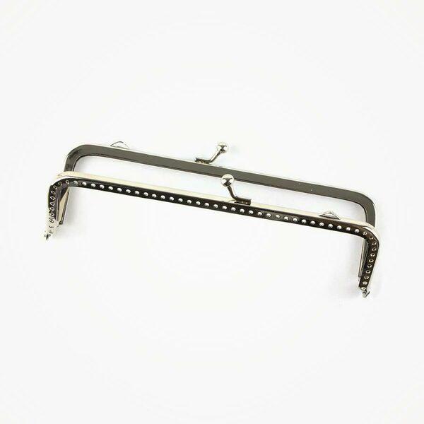 Handtassluiting recht zilverkleurig 15 cm