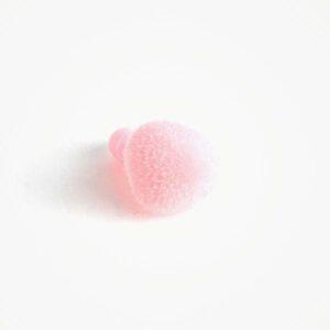 Amigurumi Veiligheidsneus Driehoek Zacht Roze