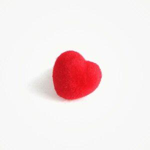 Amigurumi Veiligheidsneus Hart Zacht Rood