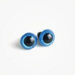 Amigurumi Veiligheidsogen Blauw Glinsterend