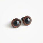 Amigurumi Veiligheidsogen Bruin Glinsterend
