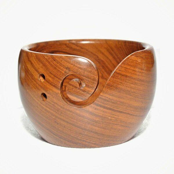 Houten Yarn Bowl Sheesham Durable