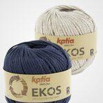 Ekos Tas Donkerblauw met korte hengsels Katia Haakpakket