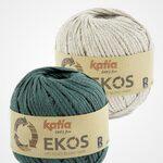 Ekos Tas Groenblauw met korte hengsels Katia Haakpakket