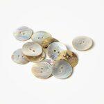 Knoop 521 Gebogen Wit Parelmoer 15 mm