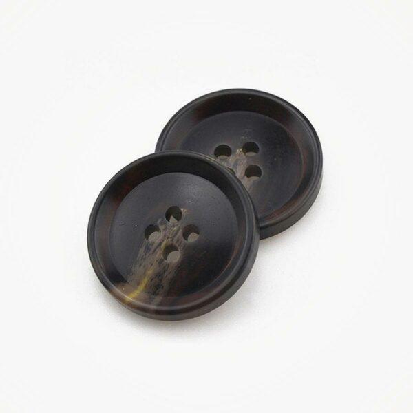 Knoop natuursteen look kunststof 18mm donker ButtonLine