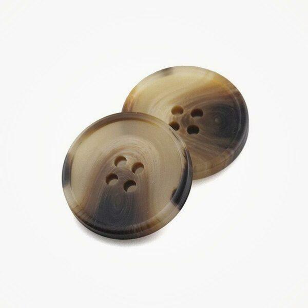 Knoop natuursteen look kunststof 23 mm licht ButtonLine