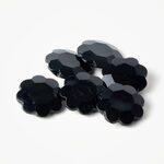 Knoop Zwart Bloem 25 mm