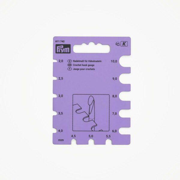 Naalddiktemeter voor haaknaalden paars Prym
