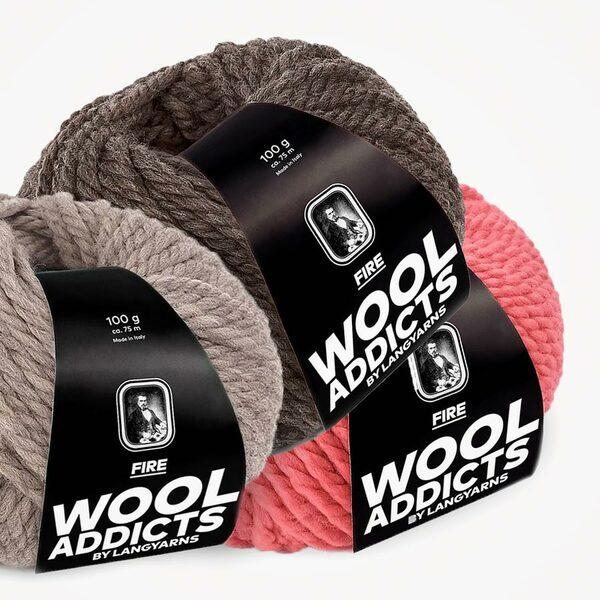 Fire Wooladdicts Lang Yarns (100 gram)